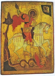 St.George and the Dragon: Russian icon